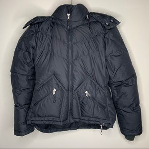 J. Crew Black Down Ski Jacket Size Small